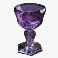 3D glass amethyst model