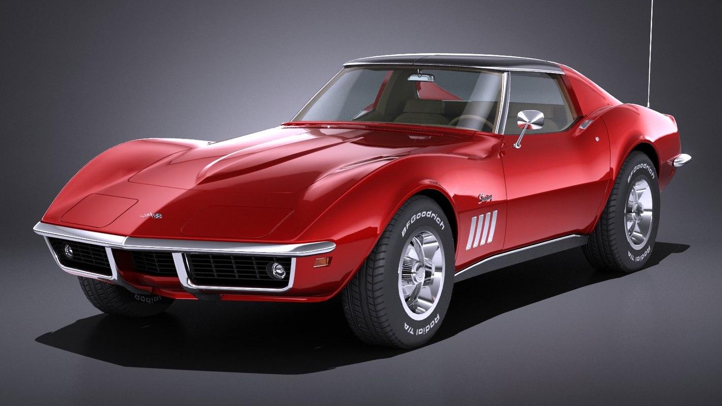Lowpoly Chevrolet Corvette C3 1969 3d Modell Turbosquid 1341308