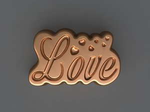love mold hand 3D model