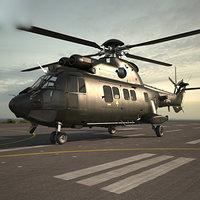 3D model eurocopter as532 532