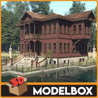 historic house mansion 3D model