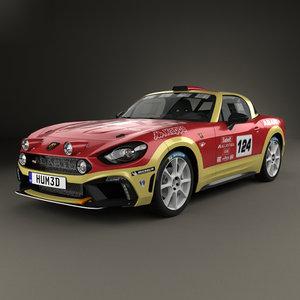3D fiat 124 rally