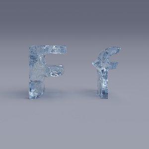 letter f 3D model