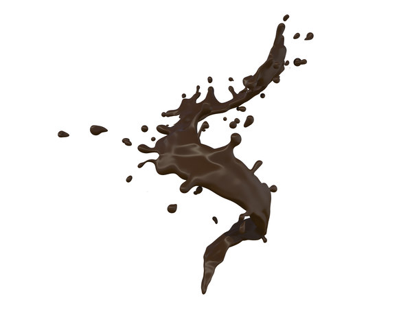 3D chocolate splash