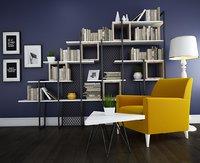 loft bookshelf 3D