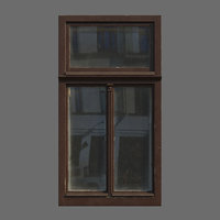 wood windows polys 3D