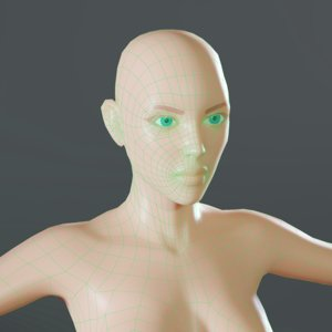 face topology mesh base model