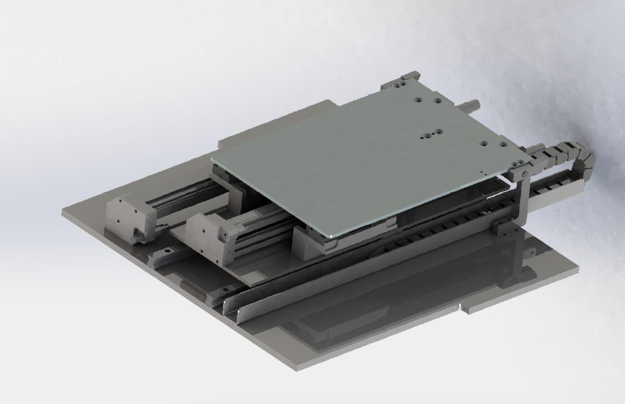 3D model double stroke cylinder slide