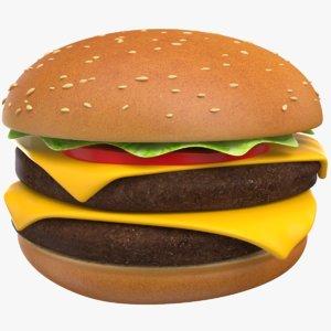 3D burger sandwich