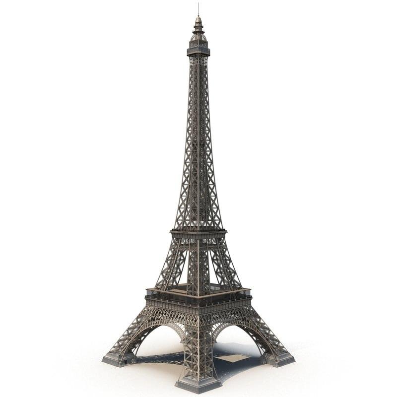 3D model eiffel tower paris