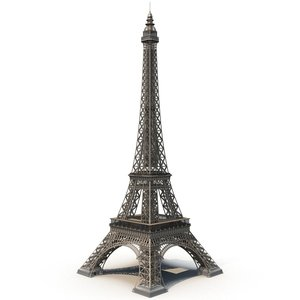 3D model eiffel tower paris