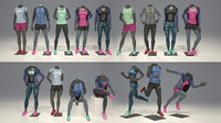 Female mannequin Nike FULL PACK 3D model