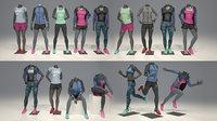 Maniquí de mujer modelo Nike FULL PACK 3D