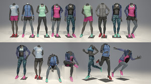 3D woman mannequin nike pack