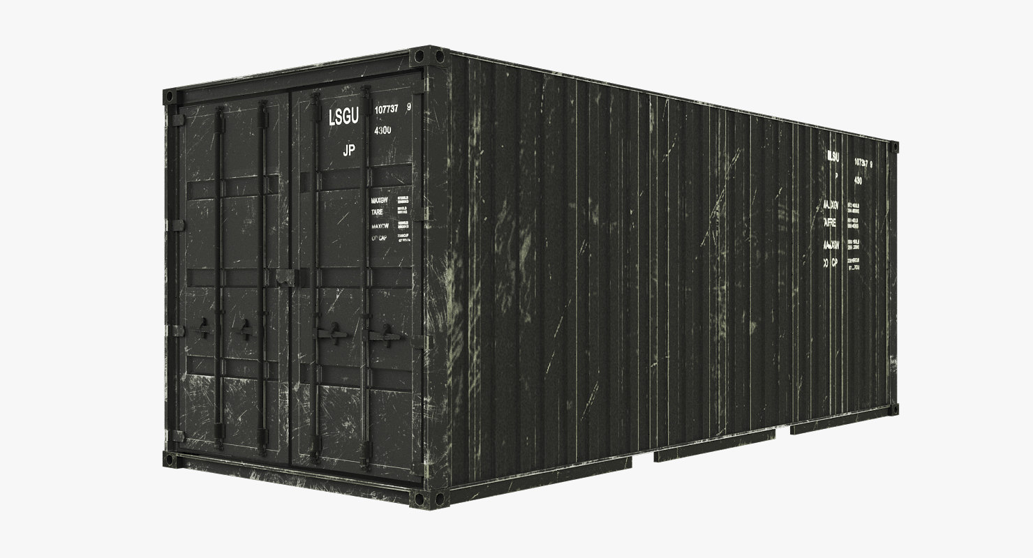 container modelling 3D model
