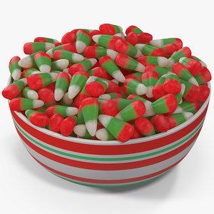 3D model christmas candy corn 4