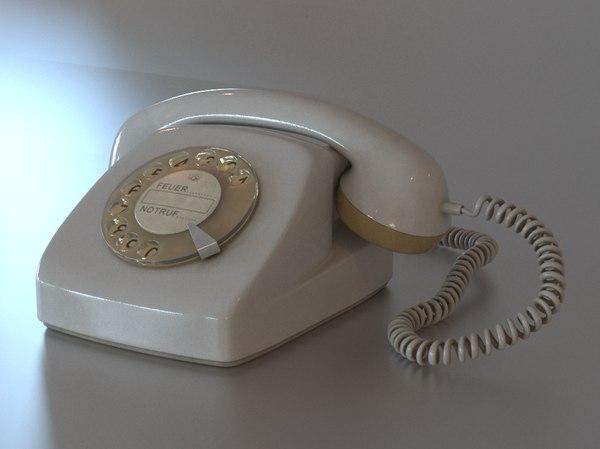 phone dial 3D model