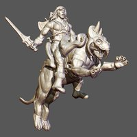 3D he-man sculpture