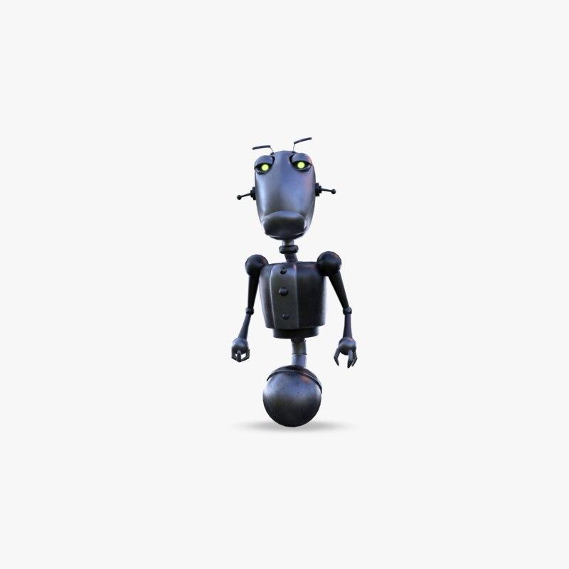 steampunk robot 3D