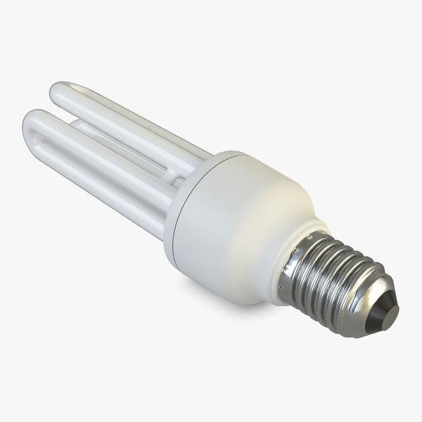 3D light bulb energy saver model