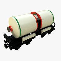 lego train tanker 3D