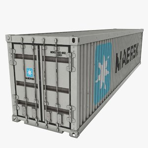 3D shipping container maersk model