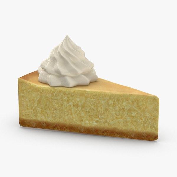 3D new-york-style-cheesecake-slice model