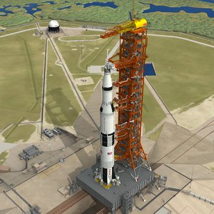 saturn apollo launch 3D model