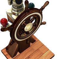 old wheel ship 3D model