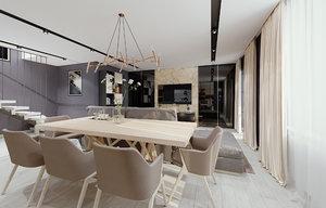 room interior sofa 3D model