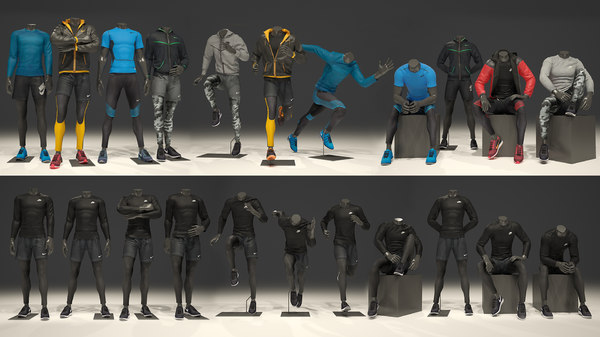 3D mannequins clothes pack