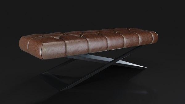 3D model minimalist pouf