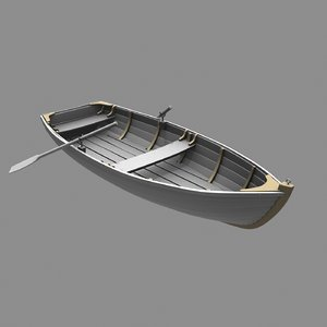 wooden boat 3D