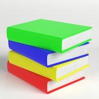 3D model stack books 1
