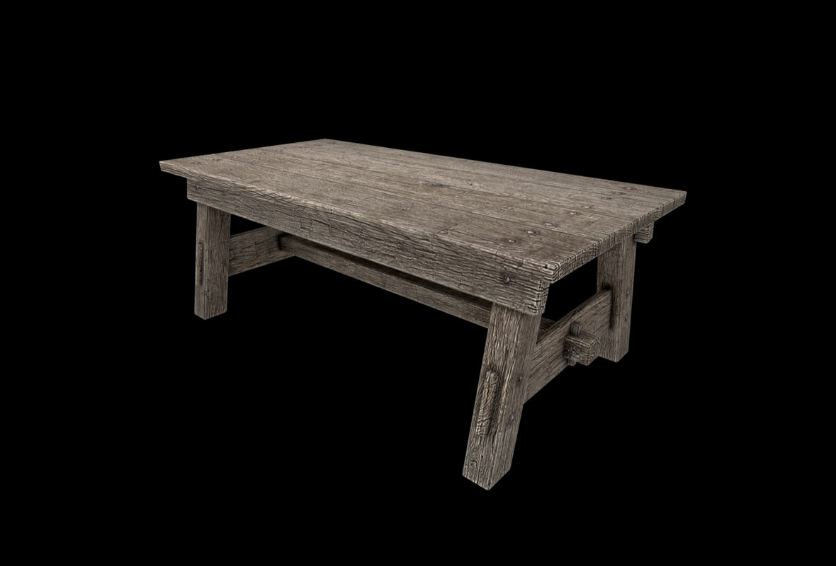 3D table low-poly
