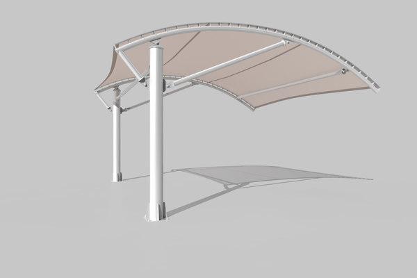 parking shelter 3D
