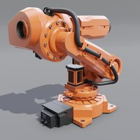 industrial robot irb 6620 3D model
