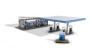 generic gas station 3D