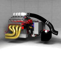 pro stock drag racing 3D model