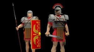3D roman legionary centurion model
