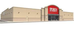 exterior retail sports authority 3D model