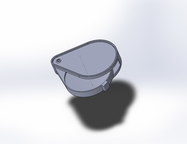 3D model magnifying glass