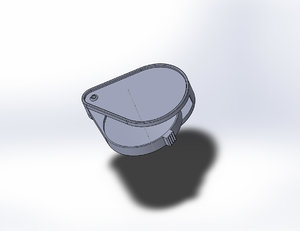 3D model magnifying glass