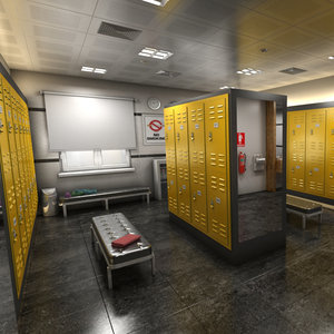 locker room 3D model
