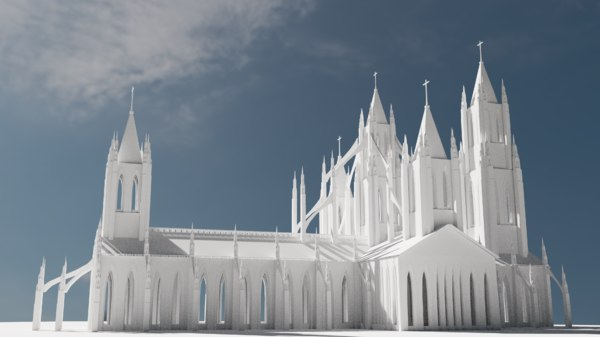 original gothic cathedral 3D model