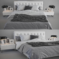 3D alivar blade bed lamps model