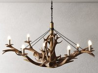 3D model antler chandelier