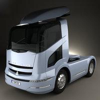 3D mitsubishi fuso tractor model