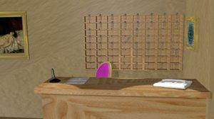 reception 3D model