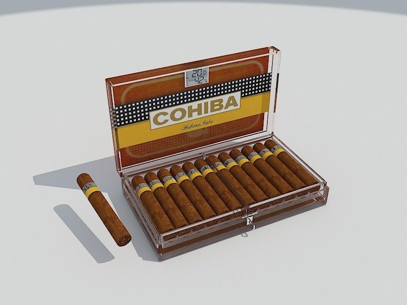 cigars cristal box 3D